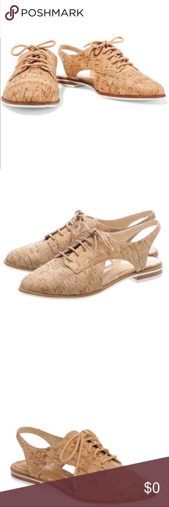 1d0d8cefe57 Schutz Jules Cork Cut Out Slingback Oxford Flat Dramatic cutouts create a  slingback profile for a cork-textured oxford Lace-up style T…