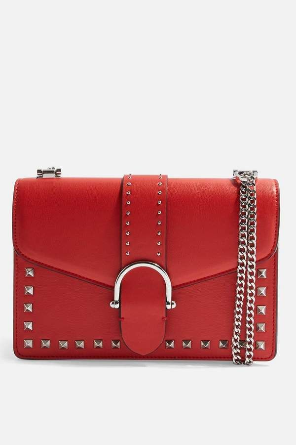 553e060a02 Topshop Beth Studded Shoulder Bag Clutch Purse