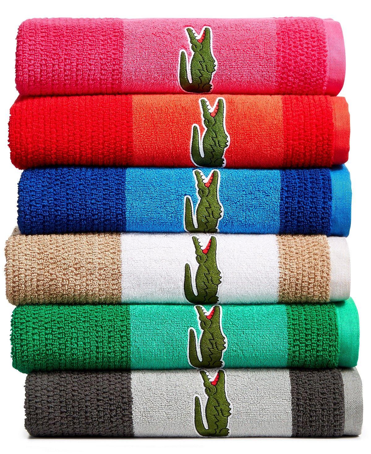 Lacoste Match Cotton Colorblocked Bath Towel Reviews Bath Towels Bed Bath Macy S Bath Towels Blue Towels Towel