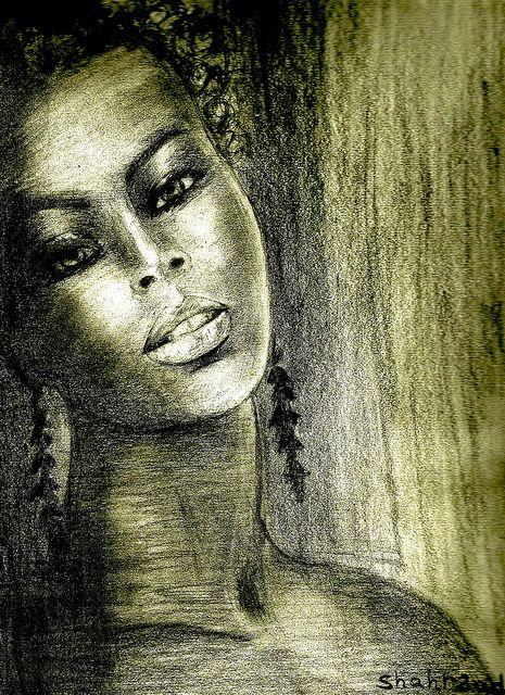 Pencil Drawings of Black People   black woman pencil drawing by shahrzad ranji   Flickr - Photo Sharing!