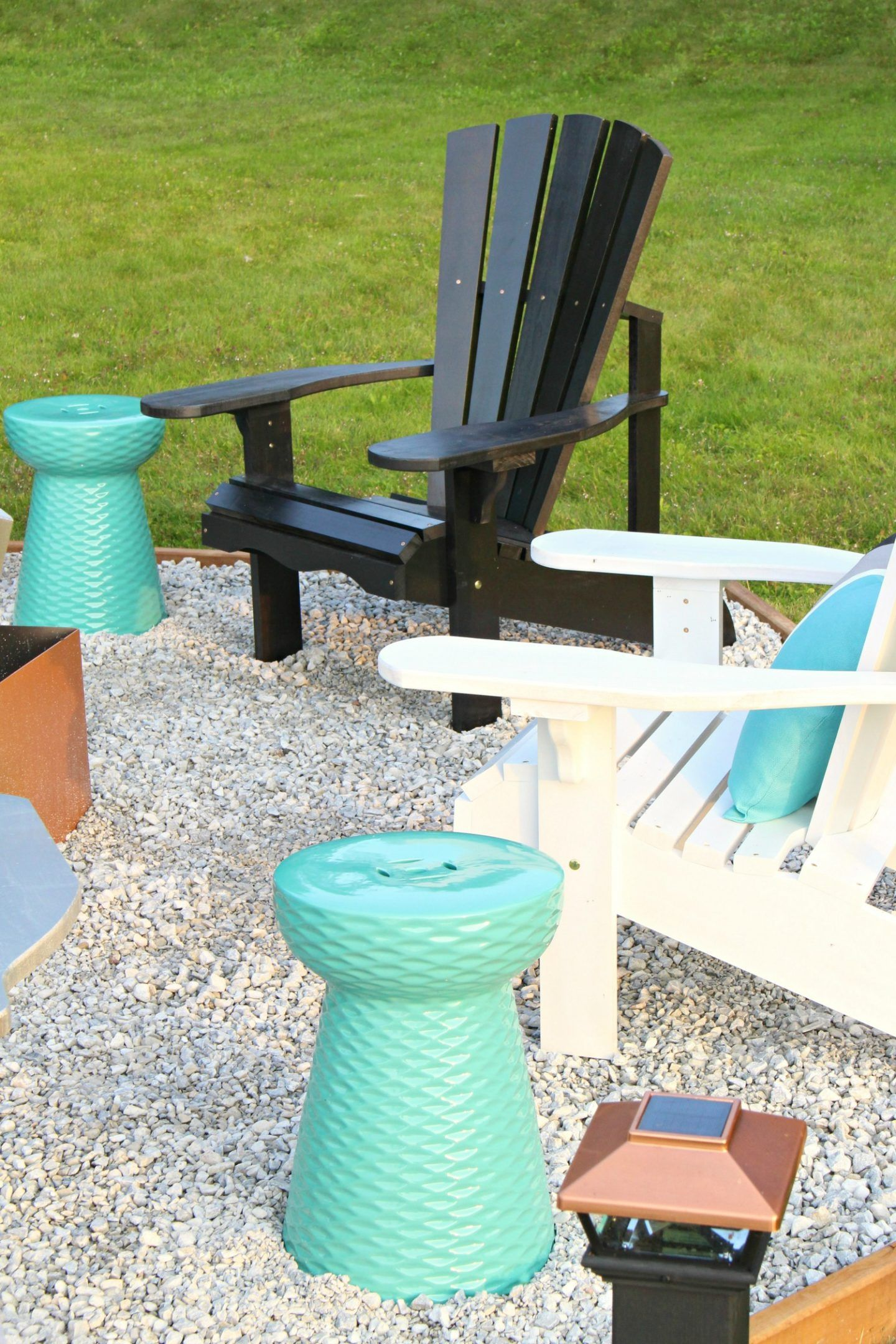 Fire Pit Makeover + DIY Ombre Adirondack Chairs (Sponsored