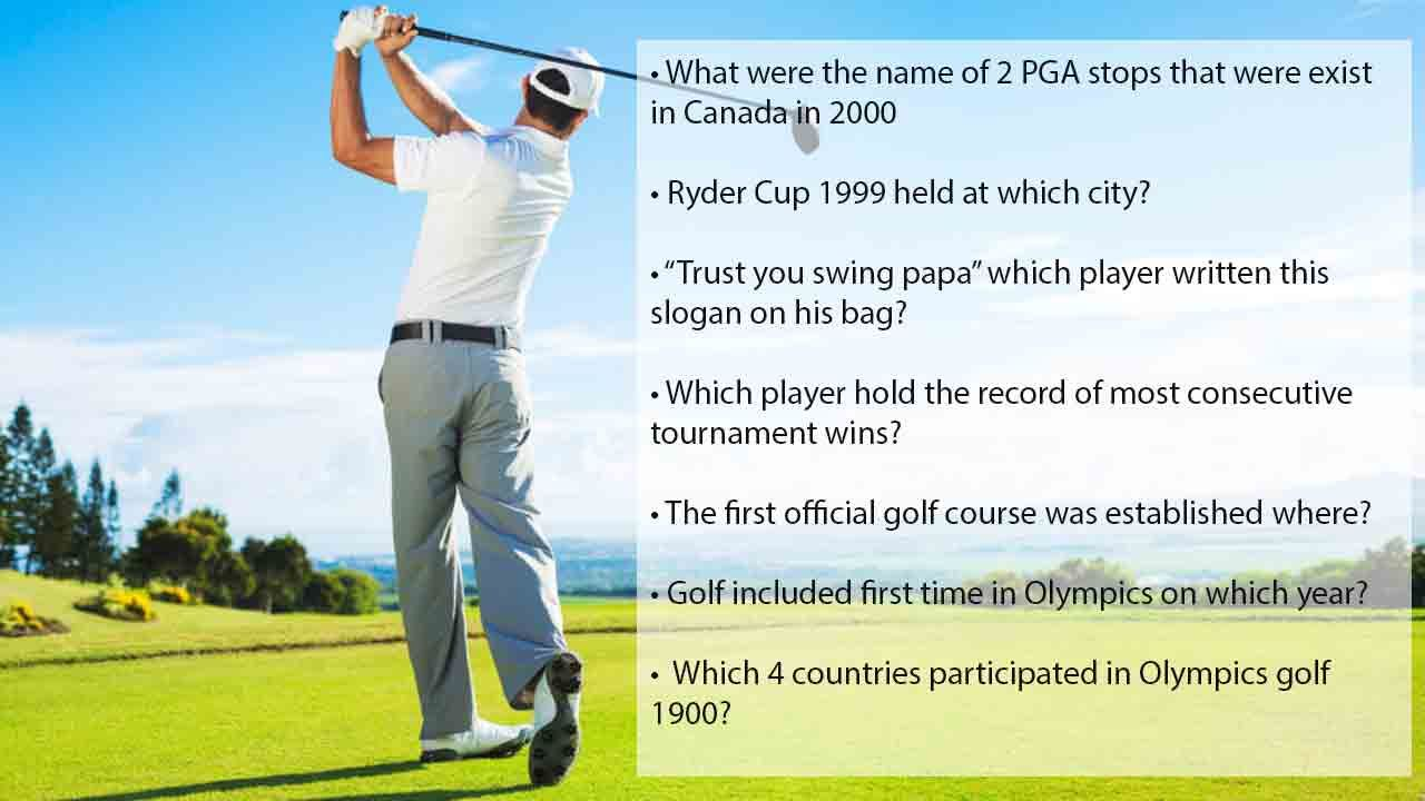 55+ best golf trivia questions with answers(Quiz) Sports