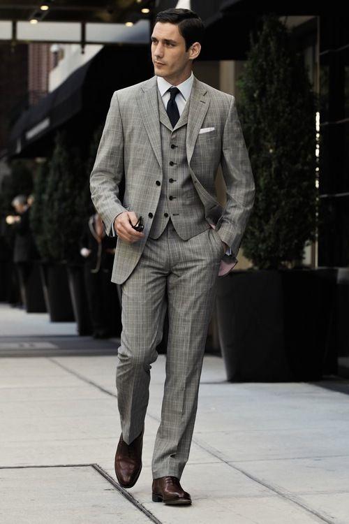 Classic Three Piece Suit & wingtips men's fashion | Wedding ...