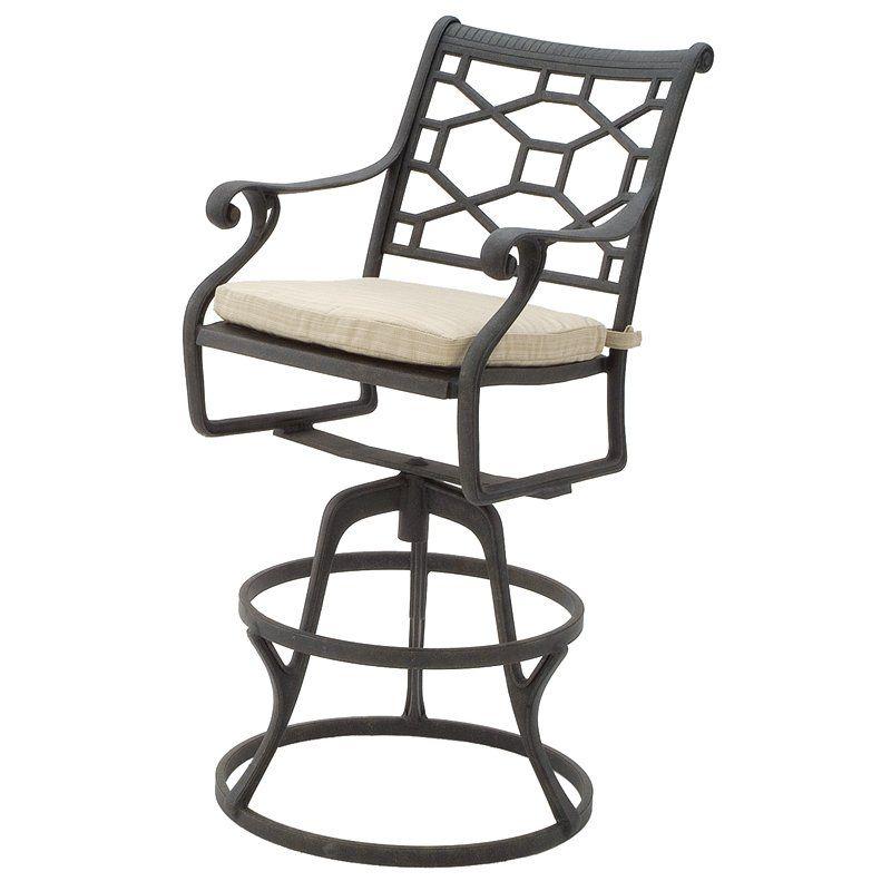 Suncoast Furniture 20315 Presidio Outdoor Swivel Bar Stool Outdoor Living Showroom Furniture Furnishings Patio Furniture