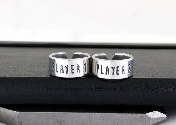 Player 1 & Player 2 Ring Set  Nintendo  Best door fromtheinternet