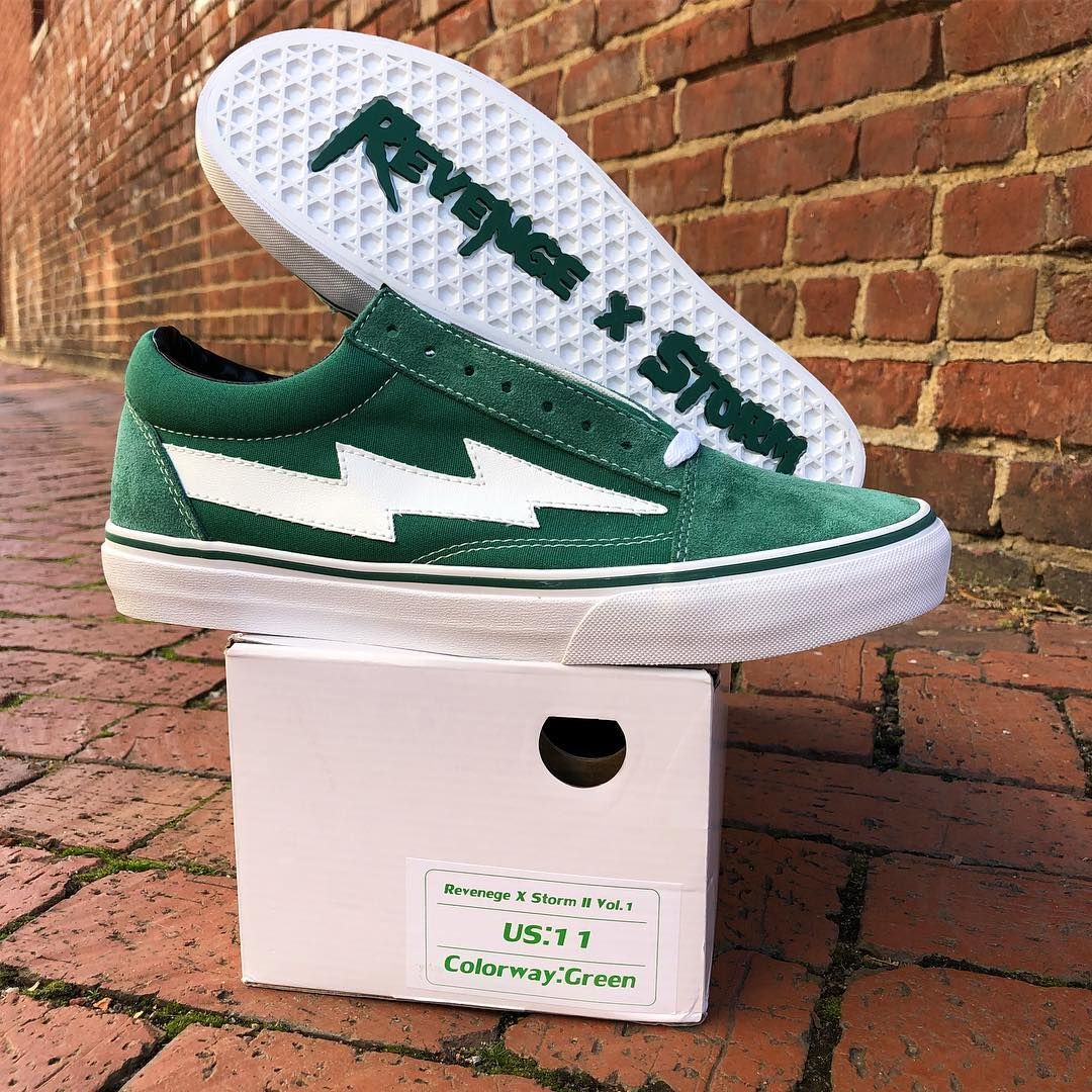 Green Revenge X Storm Vans Shoes Sneakers Shoes