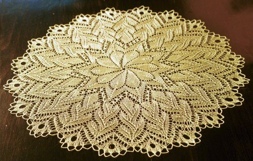 Free Round Shawldoilyblanket Pattern Crazy Picot Crochet Bind Off