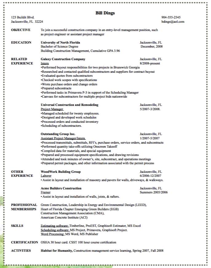 Sample Framer Resume  HttpExampleresumecvOrgSampleFramer