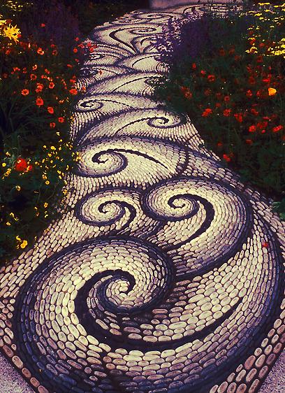 spiral through the garden
