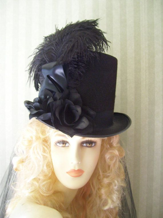 Halloween Steampunk Hat Equestrian Top Hat Civil War Kentucky Derby Top Hat