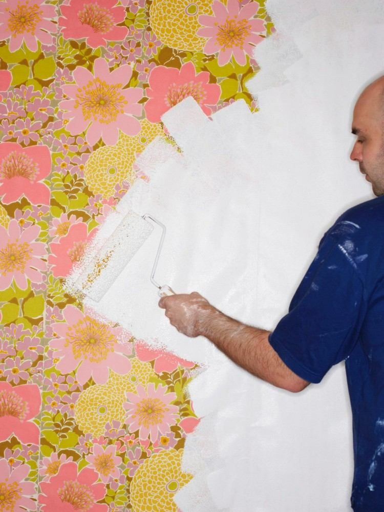 Peindre sur du papier peint  techniques, astuces et conseils déco - Poser Papier A Peindre
