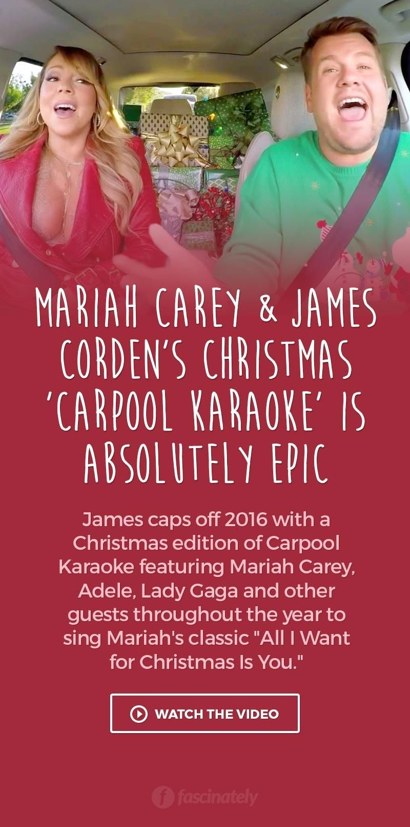 Mariah Carey James Corden S Christmas Carpool Karaoke Is Absolutely Epic Christmas Carpool Karaoke Mariah Carey Carpool Karaoke