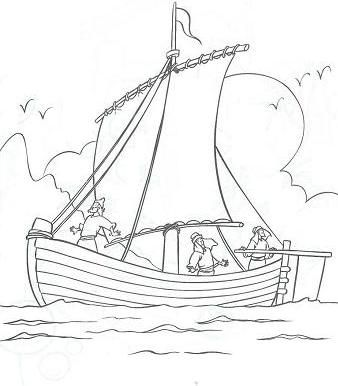 Galilee Boat Coloring Pages Jesus Calms The Storm Coloring Pages
