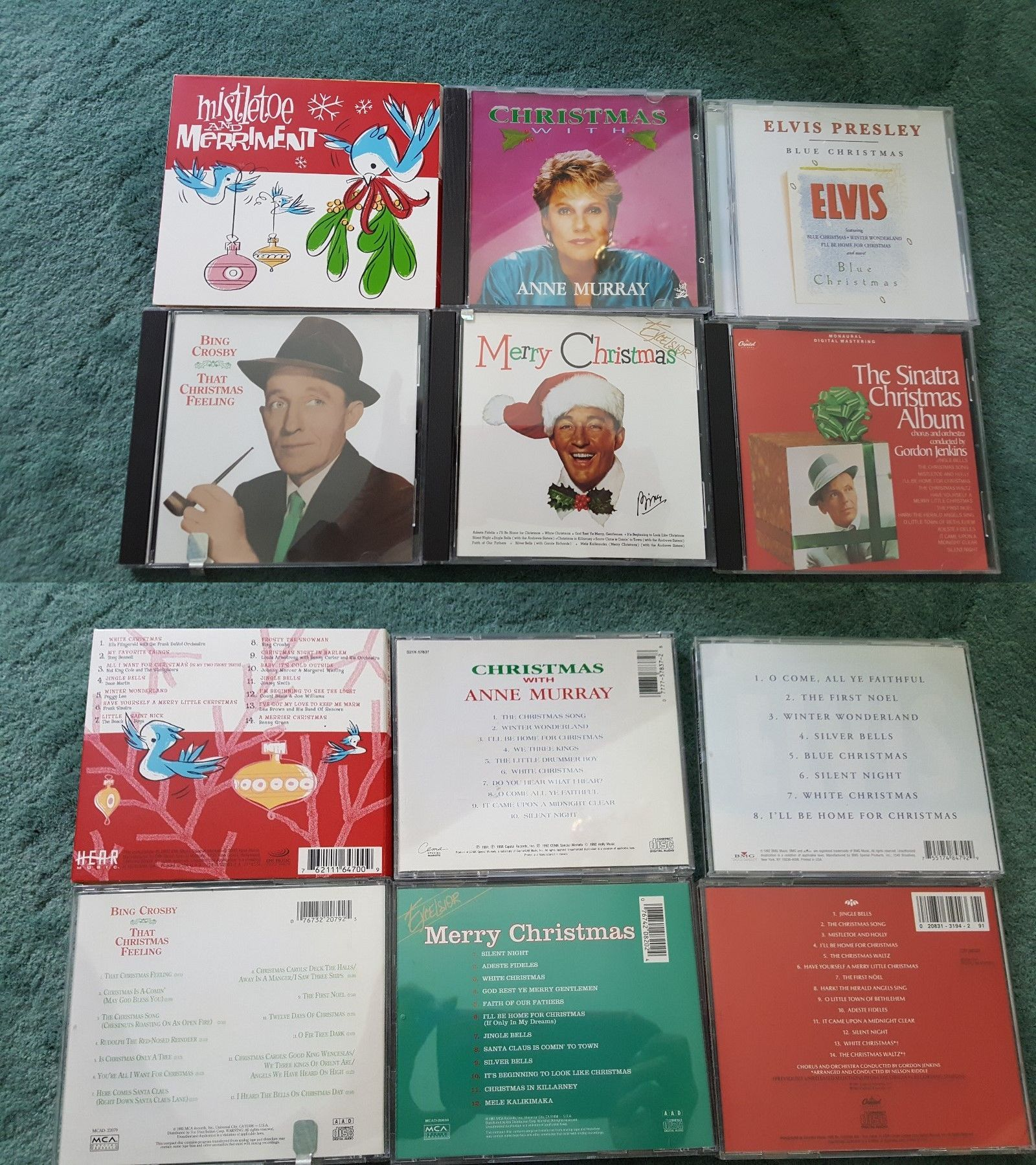 Christmas Songs And Album: Lot Of 6 Christmas Xmas Cd S -Music ...