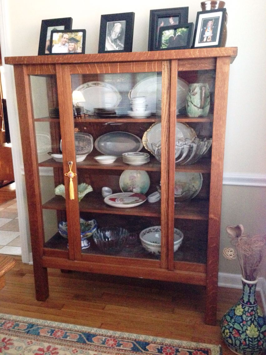 Mission style china cabinet family heirloom  Mountain Island Dining  Mission furniture