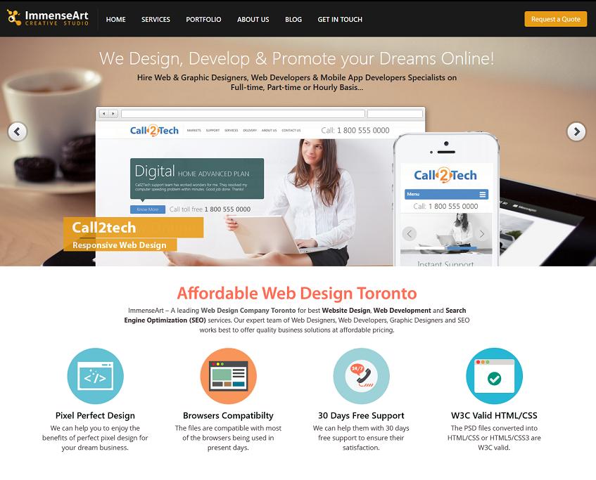 Immenseart Is A Affordable Web Design Company Toronto Specialize In Custom Website Designing With Images Website Design Company Web Development Design Web Design
