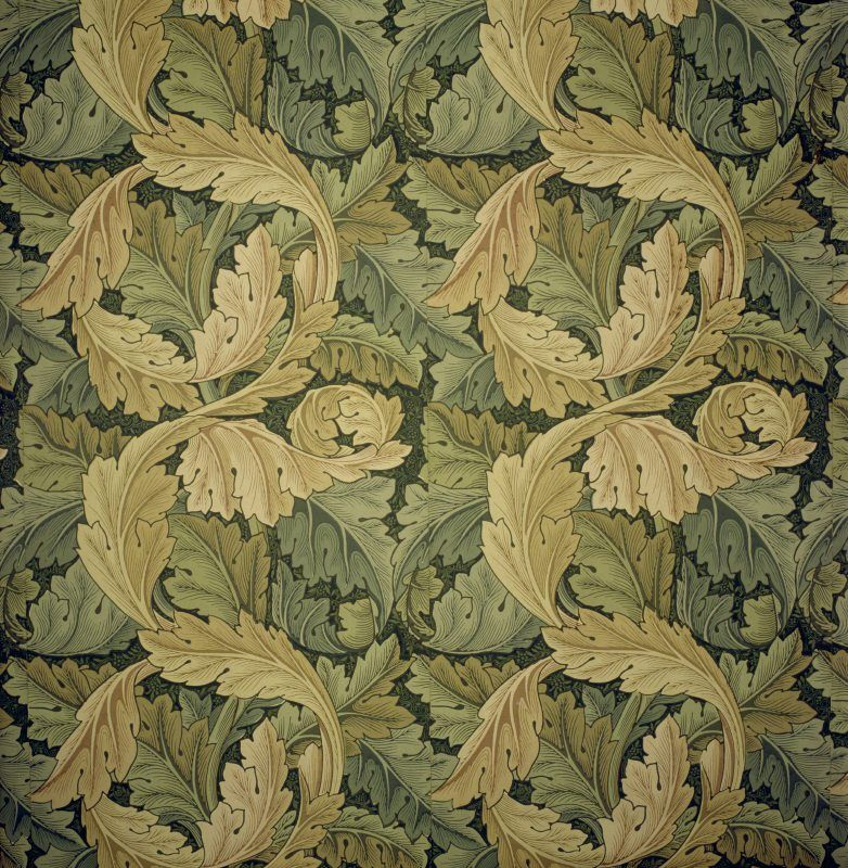 Detail of the 'Acanthus' wallpaper pattern, designed by