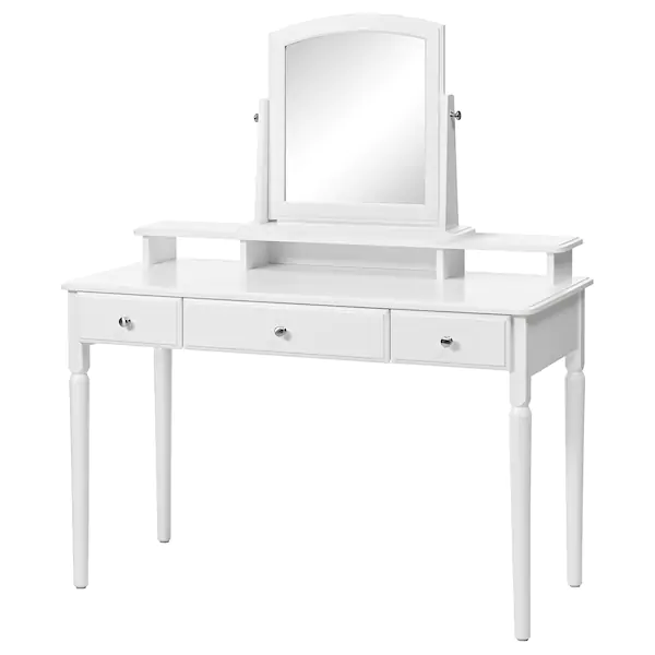 Tyssedal Dressing Table With Mirror White Ikea In 2020 Dressing Table Mirror Ikea Dressing Table Ikea Tyssedal