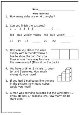 Free Printable Worksheets for Second-Grade Math Word Problems | Kids ...