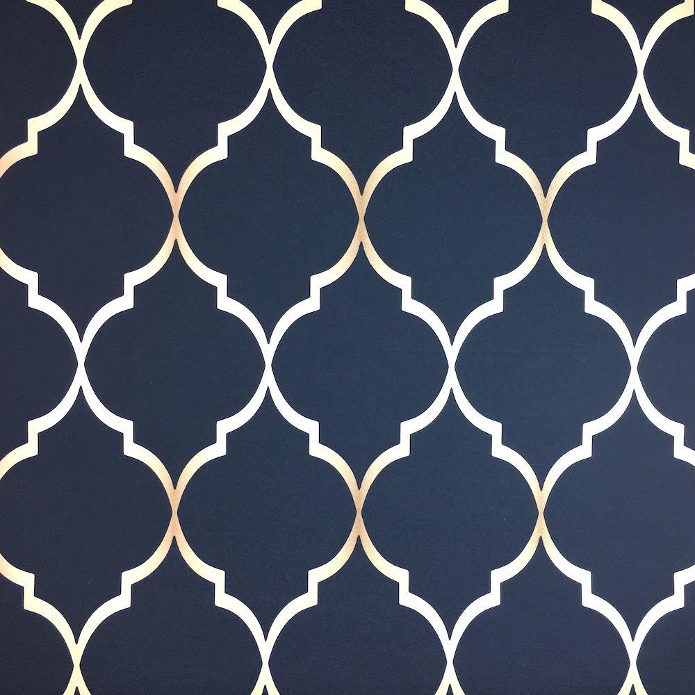 Rasch Chelsea Trellis Wallpaper 701647 Blue And White Wallpaper Blue And Gold Wallpaper Trellis Wallpaper Elegant navy blue wallpaper for walls