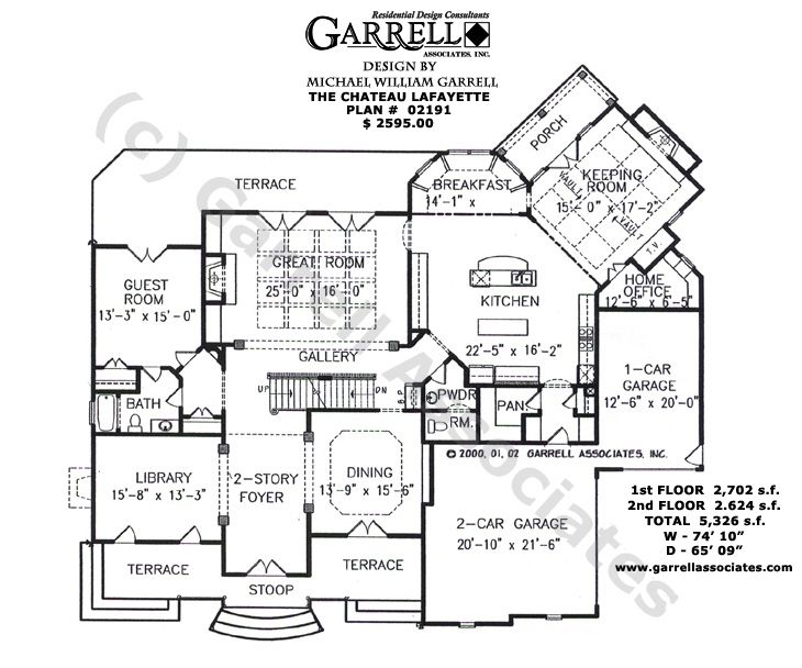 Country House Plans french country style house plans Plan 02191 1st Floor Plan French Country On New Lafayette House Plan