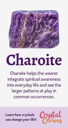 Charoite Healing Properties & Benefits