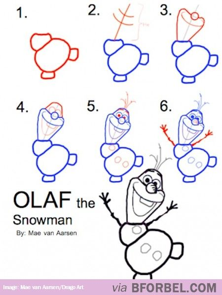 Spiksplinternieuw Drawing Olaf... | Olaf drawing, Drawings, Disney drawings AU-63