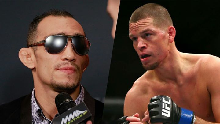 """Tony Ferguson wants to headline #UFC213 against Nate Diaz (via mmafighting.com): """"You have got no heart. You call yourself gangster? You're backing out from a fight. Let's go dude. We've got a main event that's open that needs to be filled. So if you want to make some money and impress the fans, want to get back out there, sign on the dotted line. Let's go kid."""" #mma #ufc"""