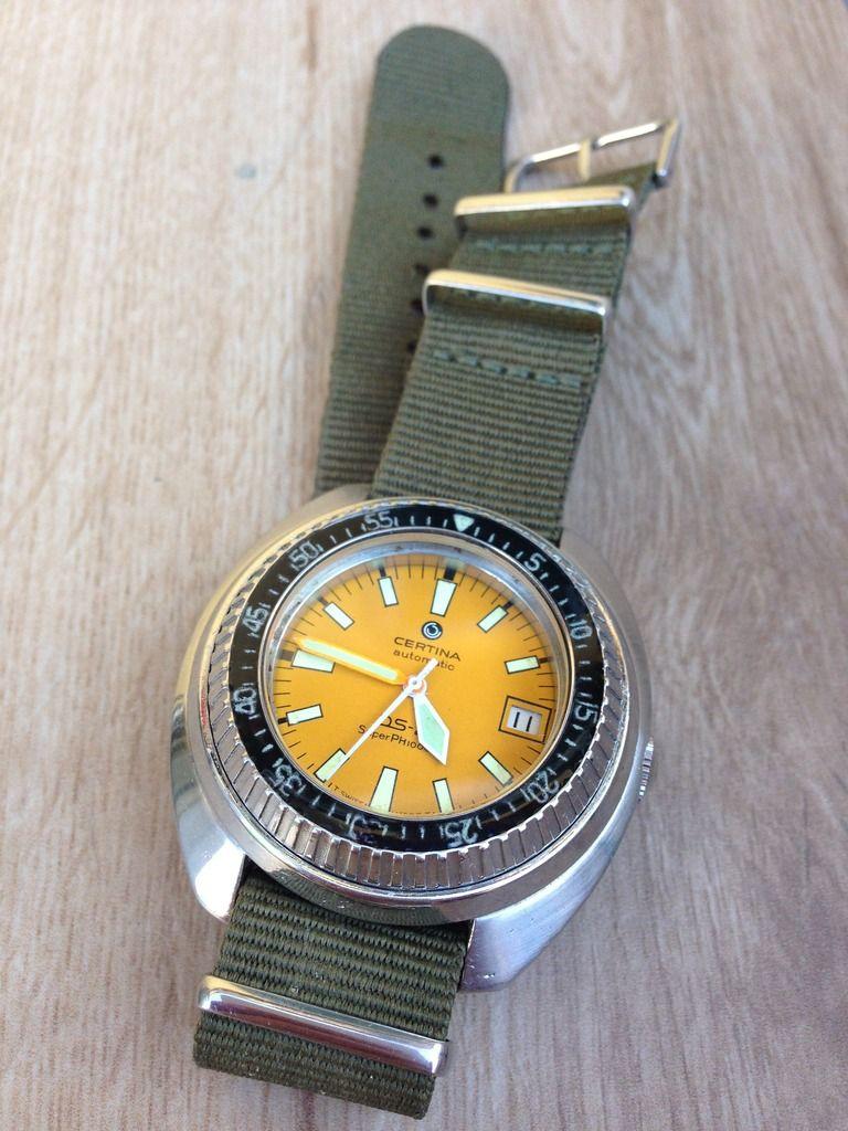 Fs Certina Ds 2 Super Ph 1000m Vintage Yellow Diver