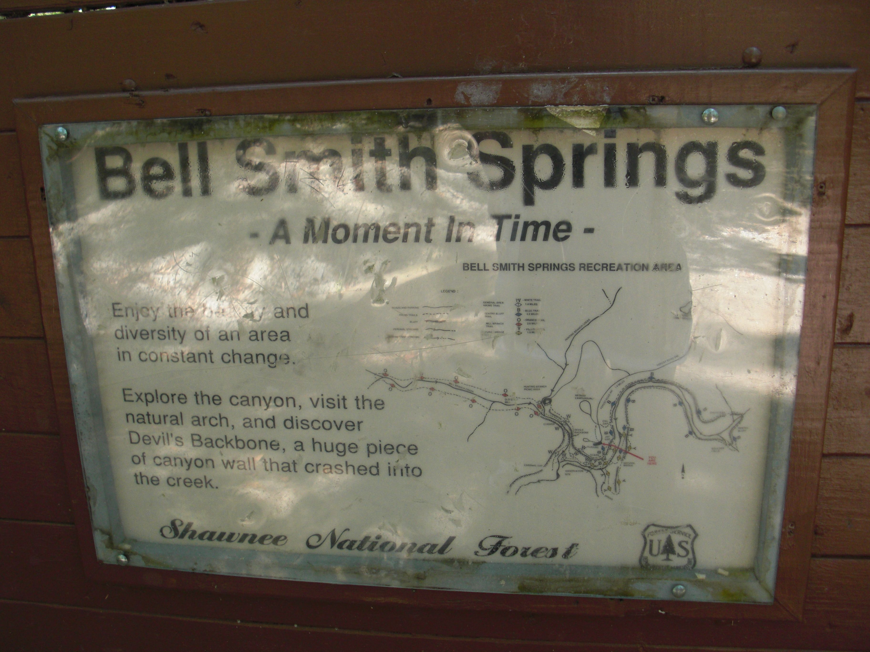 Bell smith springs recreation area illinois recreation