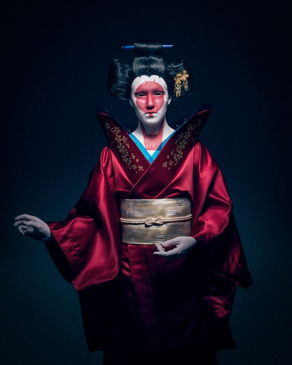 Ghost In The Shell Robot Geisha Cosplay Ghost In The Shell Geisha Geisha Costume