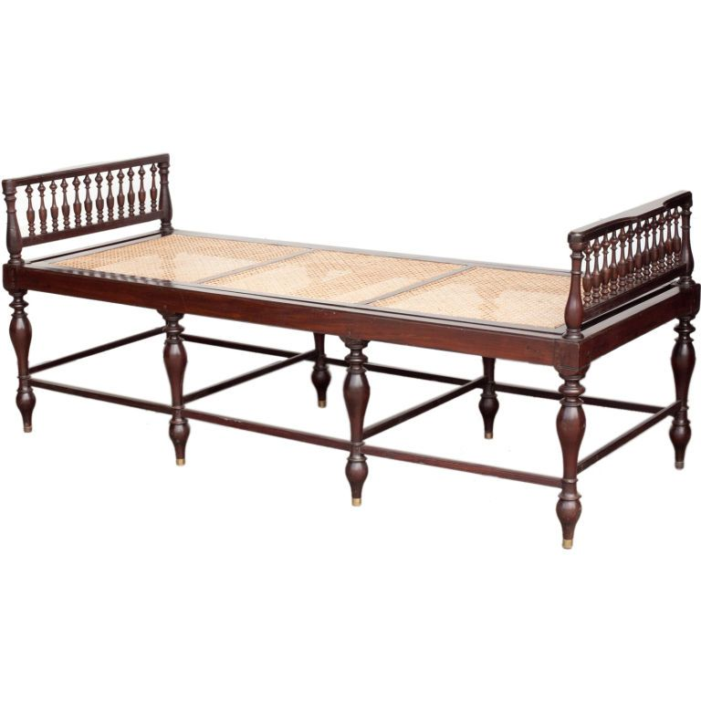 Furniture Legs India india late 19th century, anglo-indian solid rosewood daybed with