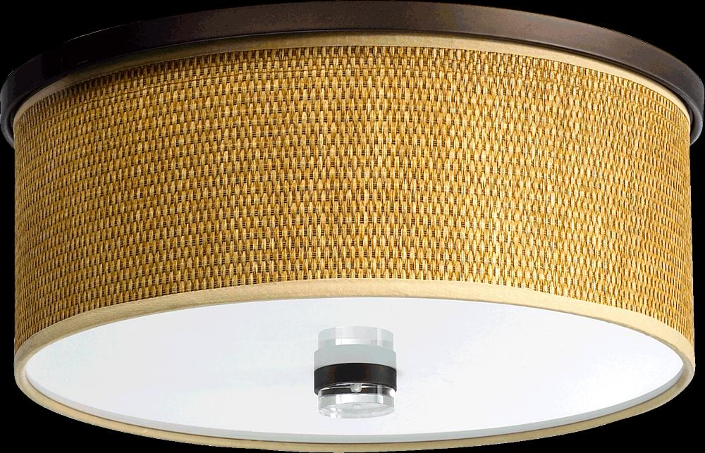 "14"" Drum Shade flush mount light."