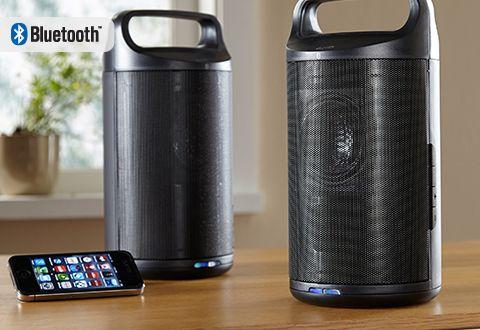 Wireless Indoor/Outdoor Bluetooth Speakers @ Sharper Image   Wireless  Indoor/Outdoor Bluetooth Speakers