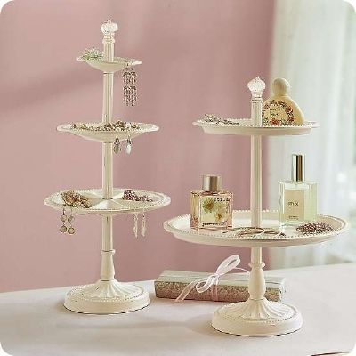 Pottery Barn Inspired Tiered Jewelry Holder TUTORIAL Craft Ideas