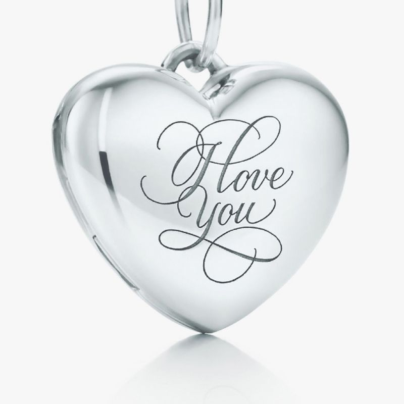 "Open your heart. ""I Love You"" heart locket in sterling silver. #TiffanyPinterest B"
