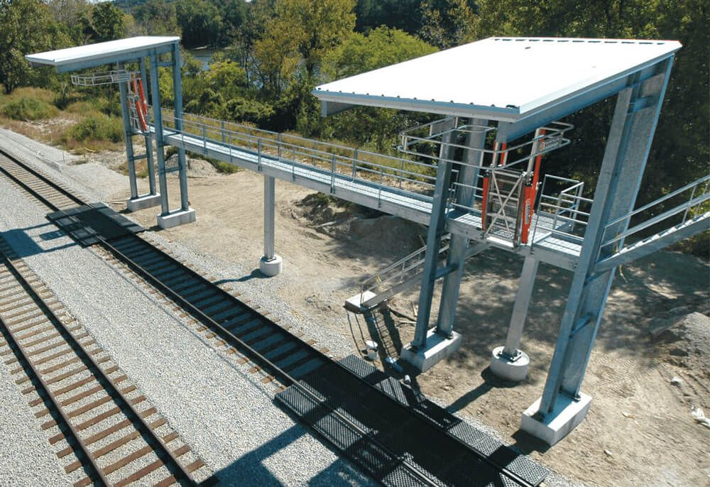 Loading Platform And Safety Cages For Railcars Plataformas