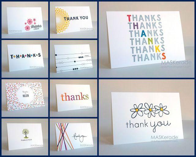 MASKerade Thank you card bundle Craft ideas Pinterest Cards