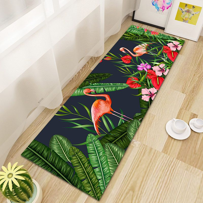 Black Red Flamingo Kitchen Rugs With Images Rugs Red Flamingo Black Runner Rug