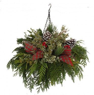 Pike Christmas Hanging Basket   Christmas Decor   Pinterest   Pine ...