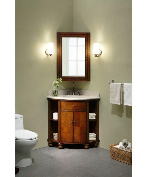 Xylem Carlton Corner Single Bathroom Vanity with Optional Medicine