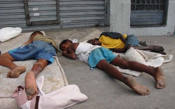 Straatkinderen Rio de Janeiro verdwijnen in de voorbereiding naar het WK