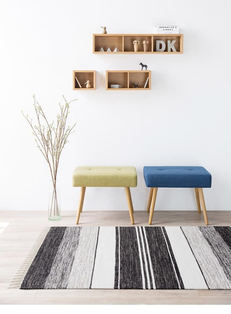 Handmade In India The Black And White Striped Kilim Rug By Select Area Rugs