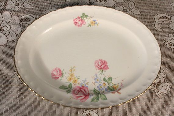 Roses Pope Gosser Platter large Dish Patty by sisoftmoonVintage