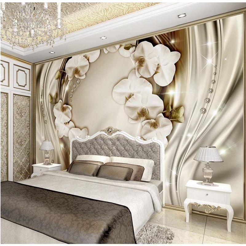Custom Any Size Modern Wall WallPaper Silk Clivia Diamond Romance - moderne tapeten fr schlafzimmer