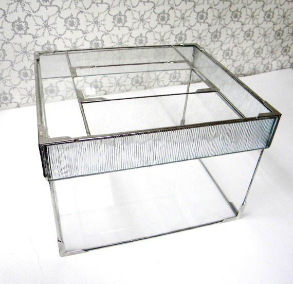 Art Deco Stained Glass Wedding Card Box Wedding Card Holder Box