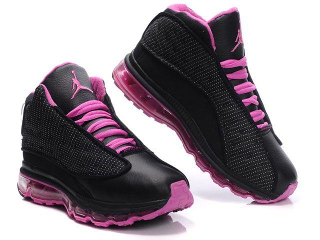 Air Jordan 13 Net Women Shoes Black/Pink For Sale | My wishlist ...