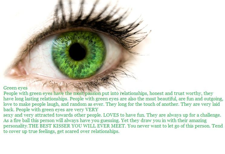 Green Eyes wow so true about most people with green eyes ...