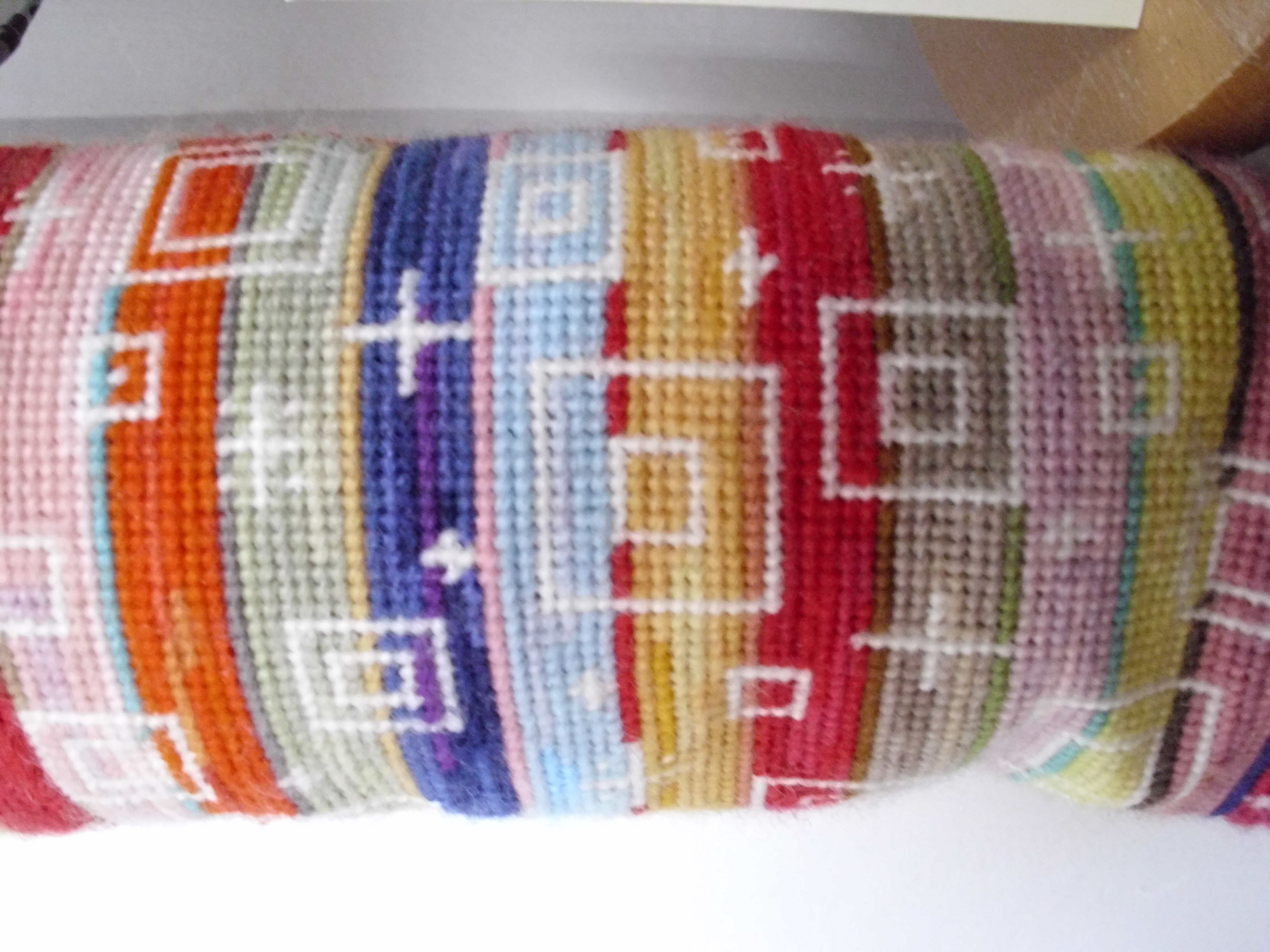A close-up of a draught excluder, showing how effective the humble stripe can be.