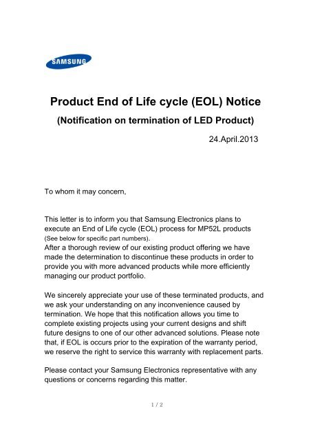 Warranty Expiration Letter Sample